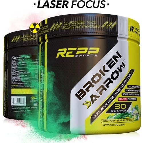 Repp Sports Broken Arrow - Elite Pre-Workout - Lime Ice ‑ 30 Servings-0