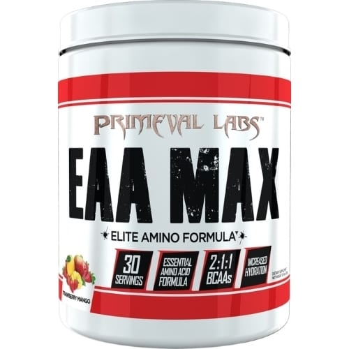 Primeval Labs EAA Max - Elite Amino - Strawberry Mango - 30 Servings-0
