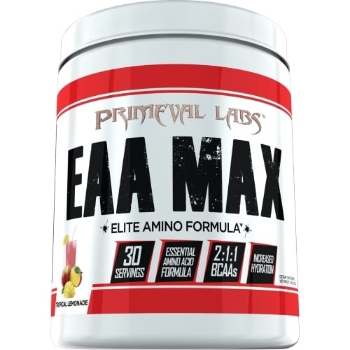 Primeval Labs EAA Max - Elite Amino - Tropical Lemonade - 30 Servings-0