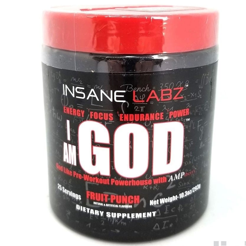 I Am God - Fruit Punch - 25 Servings - Insane Labz-0