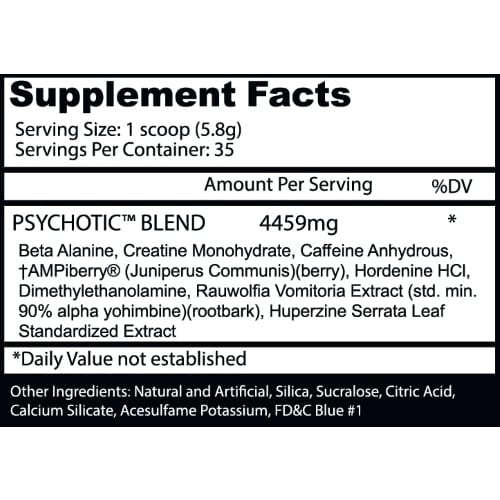 Psychotic Pre Workout by Insane Labz - Fruit Punch - 35 Servings-206
