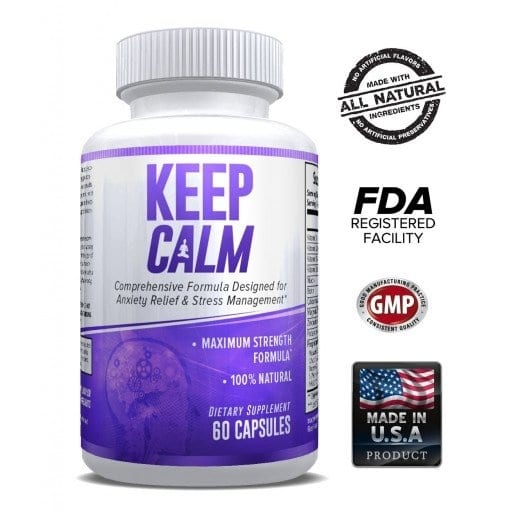 Keep Calm - Comprehensive Formula for Anxiety Relief & Stress Management 60 Caps-0