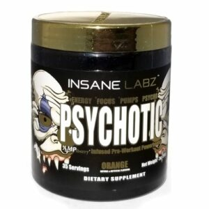 Psychotic Gold Pre Workout - Orange - 35 Servings - Insane Labz-0