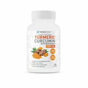 Turmeric Curcumin 1300mg – With BioPerine – 60 Capsules-0