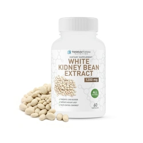 100% Pure White Kidney Bean Extract – 1200mg – 60 Capsules-0