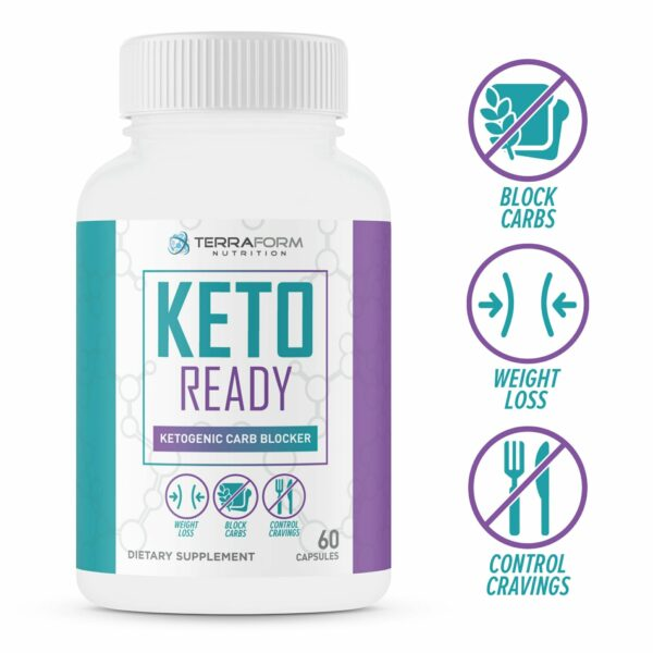 Keto Ready – Max Strength Keto Carb Blocker 1200mg – 60 Capsules-0