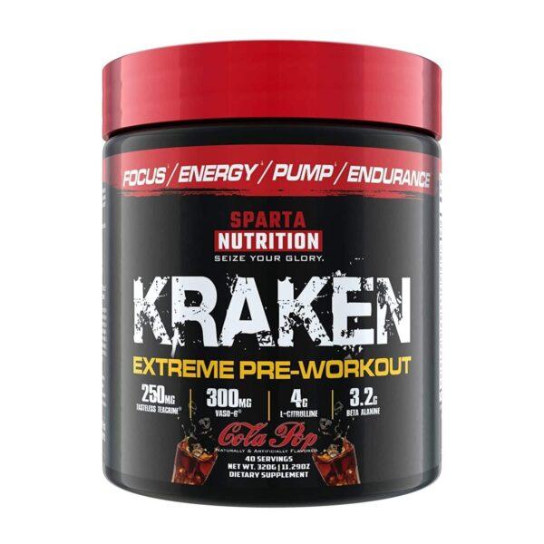 Sparta Nutrition Kraken Pre Workout - Cola Pop - 40 Servings-0