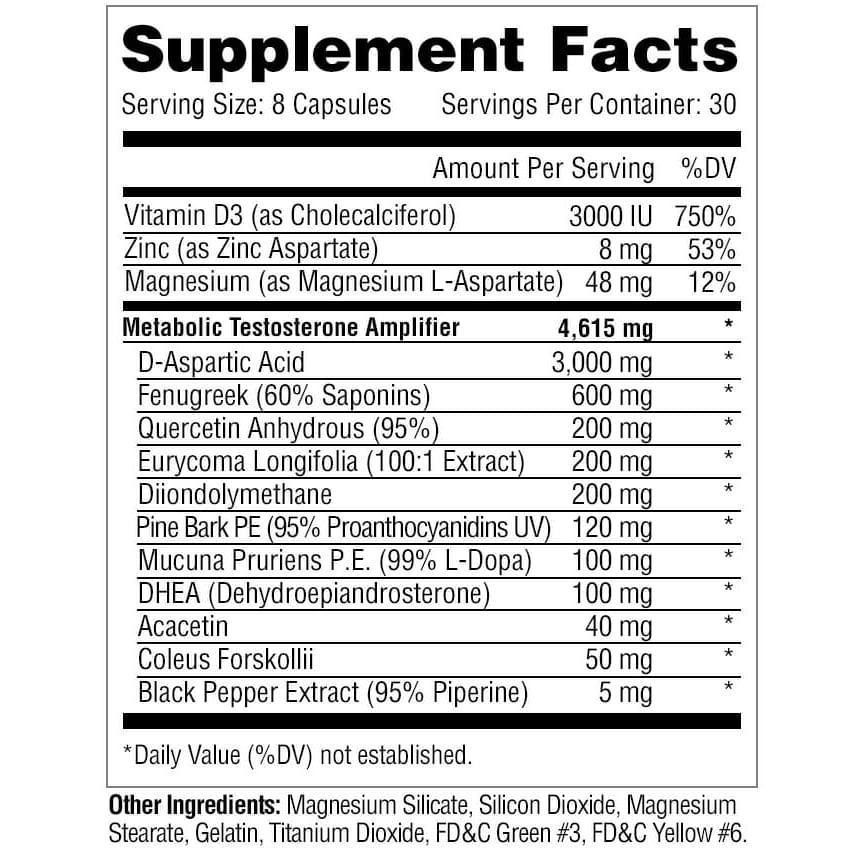 Metabolic Nutrition Metatest - 240 Capsules-393