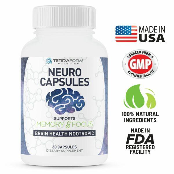 Neuro Capsules Nootropics – 60 Capsules-532