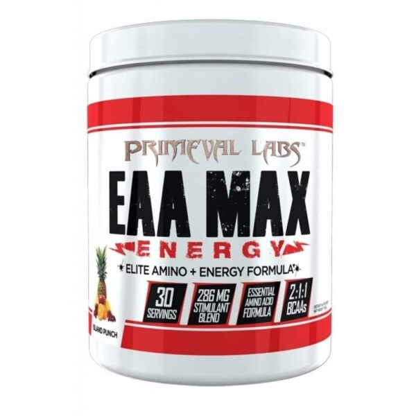 Primeval Labs EAA Max Energy - Elite Amino & Energy - Island Punch - 30 Servings-0