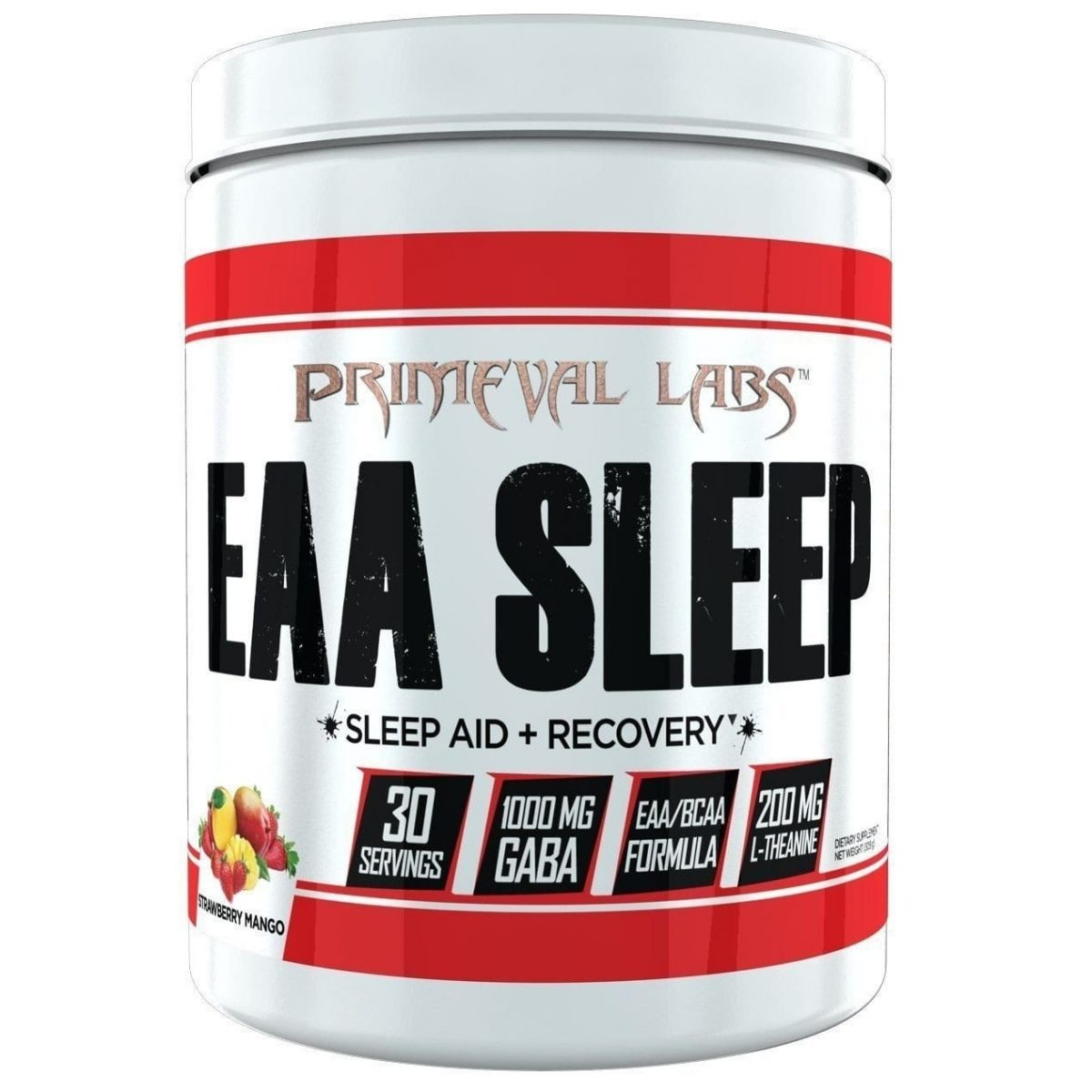 Primeval Labs EAA Sleep - Sleep Aid - Recovery - Strawberry Mango - 30 Servings-0