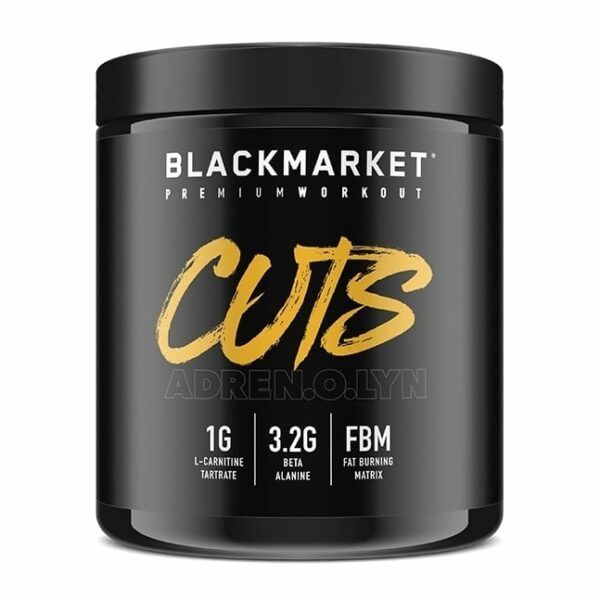 Adrenolyn Cuts - Pre Workout - Blue Razz - 30 Servings By Blackmarket Labs-0