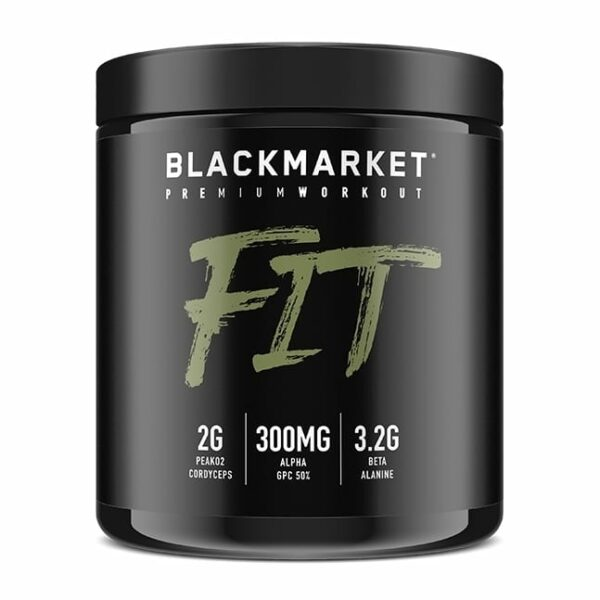 Fit - Pre Workout - Blue Razz - 30 Servings By Blackmarket Labs-0