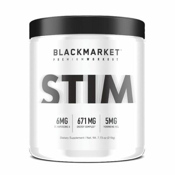 Stim - Pre Workout - White Noise - 30 Servings By Blackmarket Labs-0