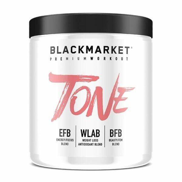 Tone - Women's Pre Workout - Strawberry Kiwi - 30 Servings By Blackmarket Labs-0