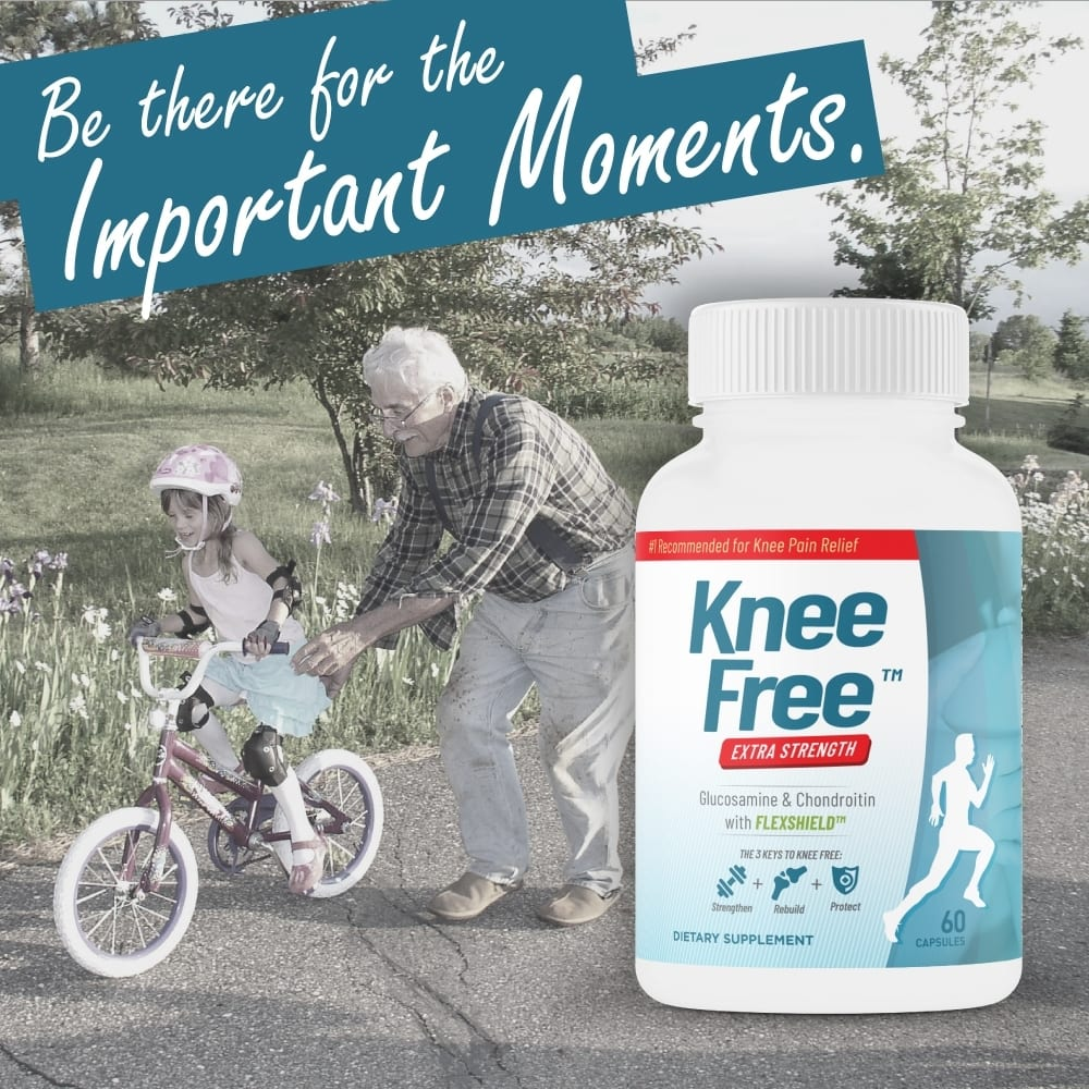Knee Free – Extra Strength, Focused Formula for Knee Pain Relief – 60 Capsules-805