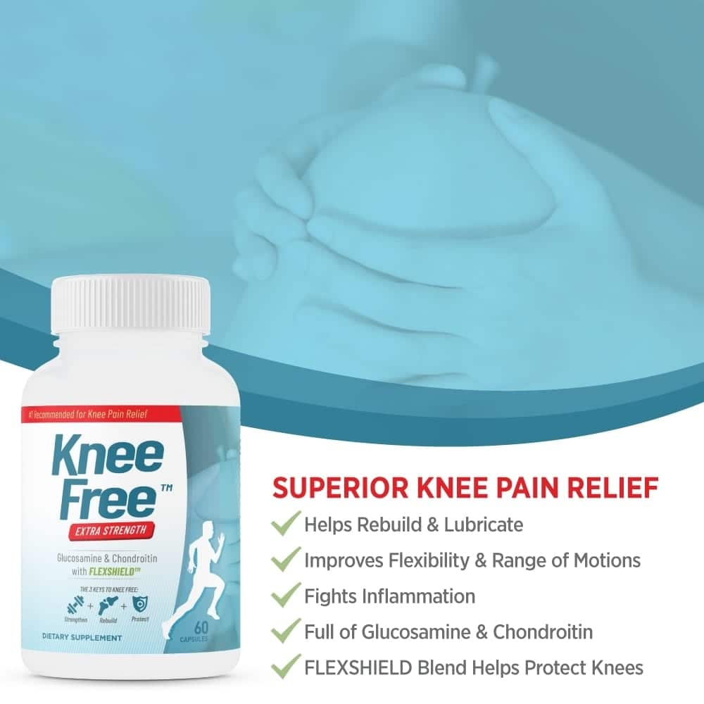 Knee Free – Extra Strength, Focused Formula for Knee Pain Relief – 60 Capsules-804
