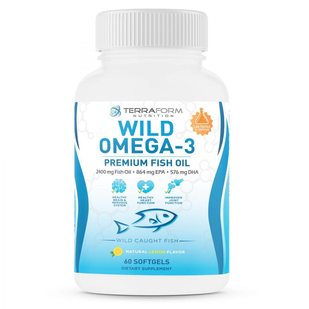 Wild Omega 3 Fish Oil 2400mg - 60 Capsules