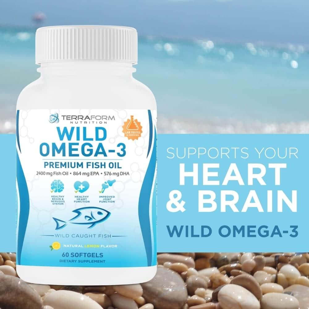 Wild Omega 3 Fish Oil 2400mg - 60 Capsules-781