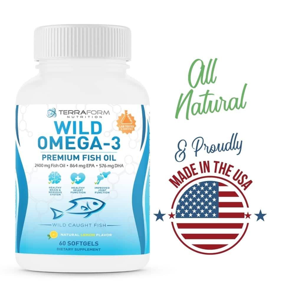Wild Omega 3 Fish Oil 2400mg - 60 Capsules-782