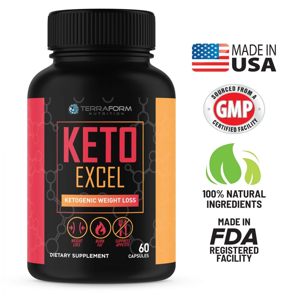 Premium Keto Stack - Keto Excel Weight Loss & Keto Ready Carb Blocker - 30 Day Supply-748