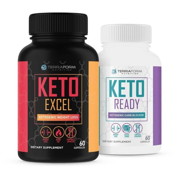 Premium Keto Stack - Keto Excel Weight Loss & Keto Ready Carb Blocker - 30 Day Supply-0