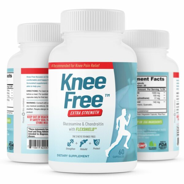 Knee Free – Extra Strength, Focused Formula for Knee Pain Relief – 60 Capsules-0
