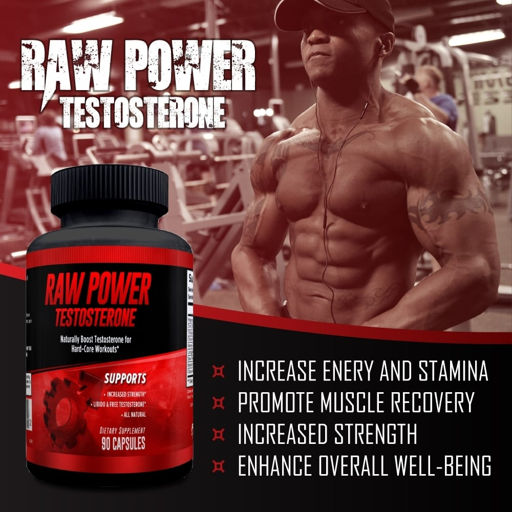 Raw Power Testosterone Booster - 90 Capsules -30 Servings By Explicit Supplements-757