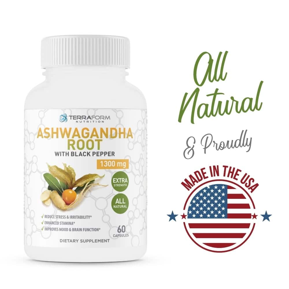 Pure Ashwagandha Root with Black Pepper – 1300mg – 1 Month Supply-802