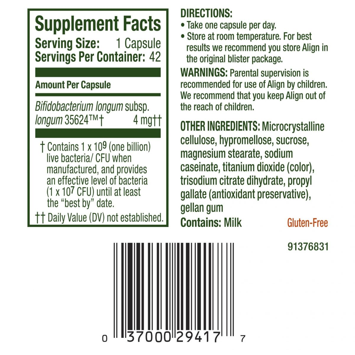 Align Digestive Care Probiotic - 42 Count-826