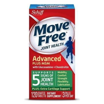 Move Free Advanced Plus MSM with Glucosamine & Chondroitin - 20 Count By Schiff-0