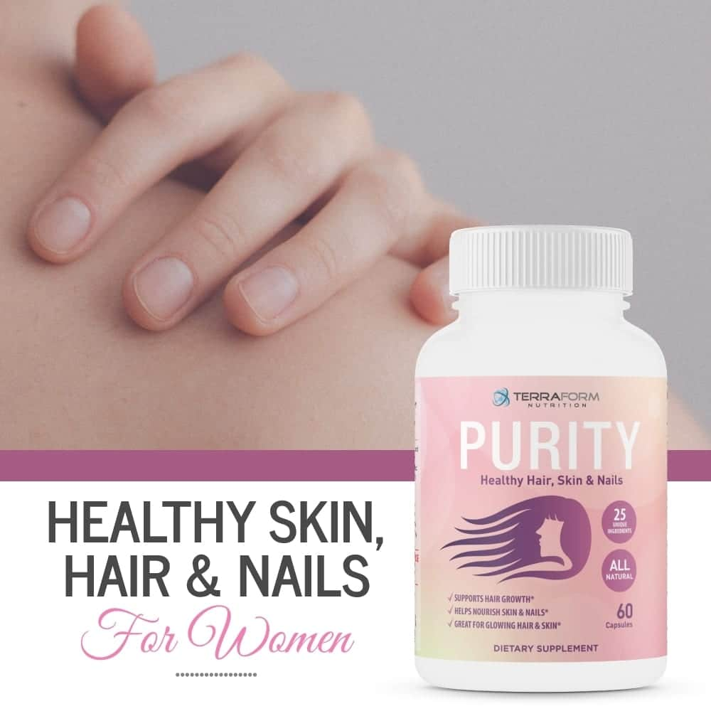 Purity - Hair Skin & Nail Vitamins – Supports Hair Growth for Women, Nourishes Skin & Nails-865