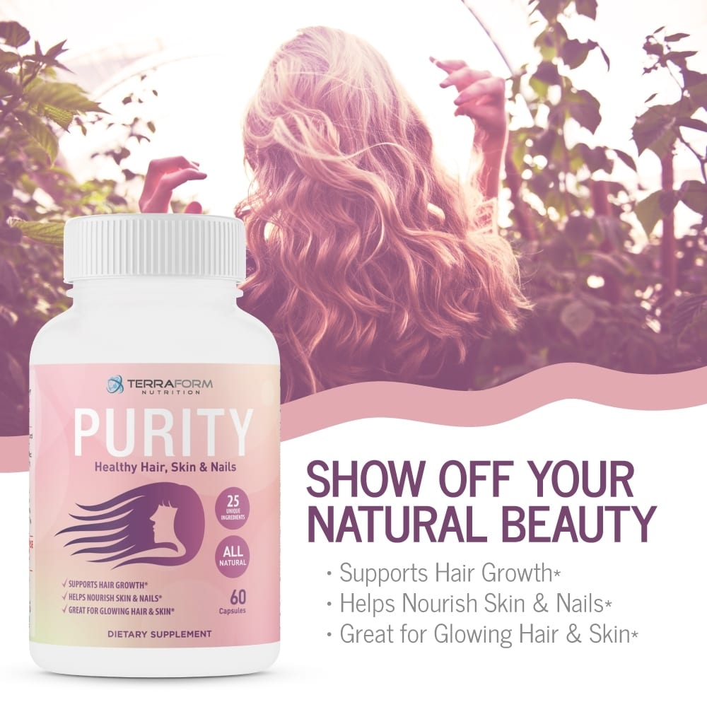 Purity - Hair Skin & Nail Vitamins – Supports Hair Growth for Women, Nourishes Skin & Nails-866