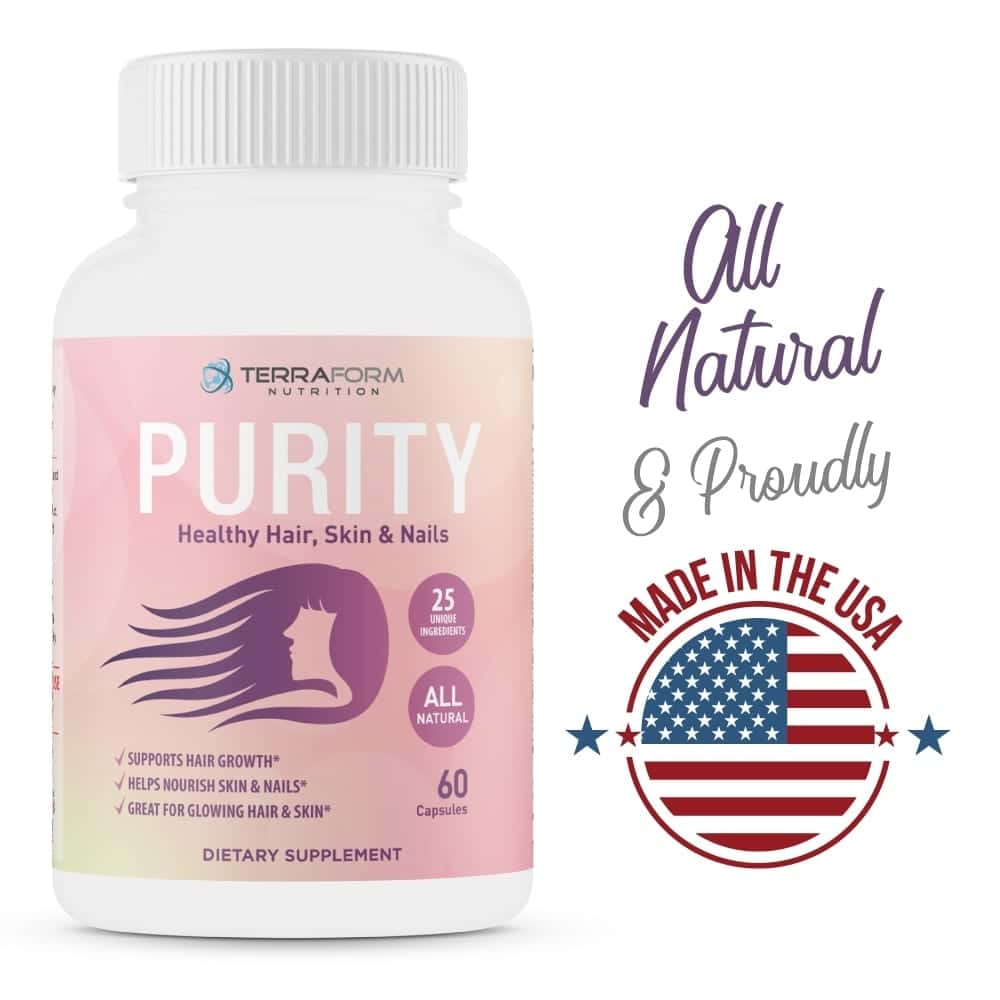 Purity - Hair Skin & Nail Vitamins – Supports Hair Growth for Women, Nourishes Skin & Nails-867
